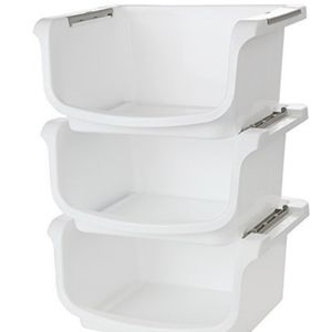 Nesting and Stackable Storage Bins